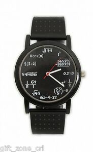 Novelty-EQUATION-WATCH-Numerical-Sums-BLACK-FACE-Wrist-Watch-Thumbs-Up