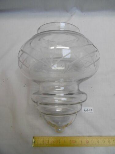 abat jour globe ou boule en verre clair à collerette 1970 Ø 14,2 cm réf Ag63