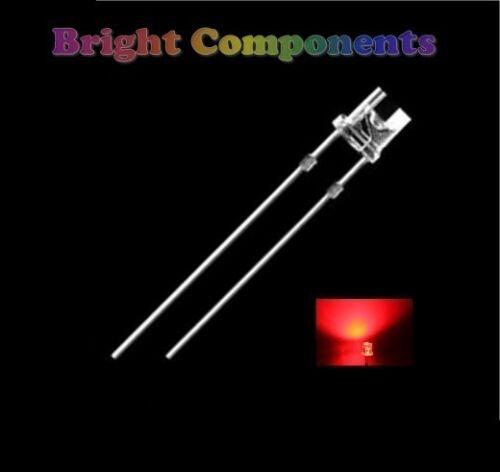8000mcd 1st classe post 10 x led rouge 5mm flat top-ultra lumineuse - uk