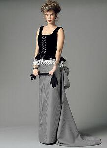 new victorian steampunk dress gown corset top skirt