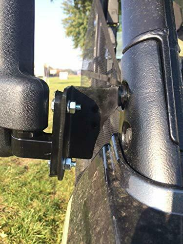 Folding Side View Mirror Set for Polaris Ranger 1000XP 2018+Will Work With Fa...