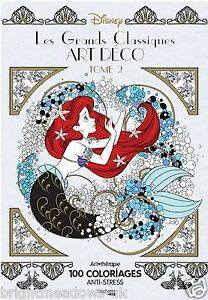 Image Is Loading Disney Classics Art Deco Style Adult Colouring Book