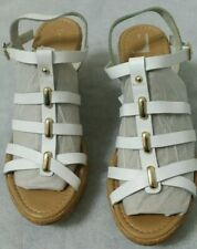 5d85beb498db item 2 Ladies M S Corrugated White Cork Wedge Platform Summer Sandals Women  Shoe UK 5 -Ladies M S Corrugated White Cork Wedge Platform Summer Sandals  Women ...