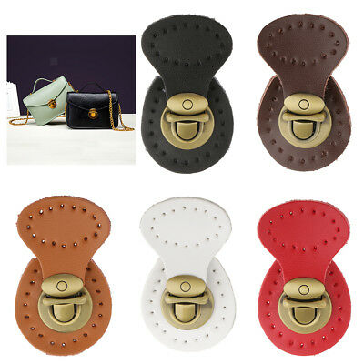 non-brand 10 Sets PU Leather Handbag Bag Lock Fasteners Snap Buckles Clasp Replacement for Purse Making