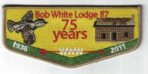 OA 87 Bob White 75th Anniversary 2011 Flap Georgia Carolina Council ZIG452