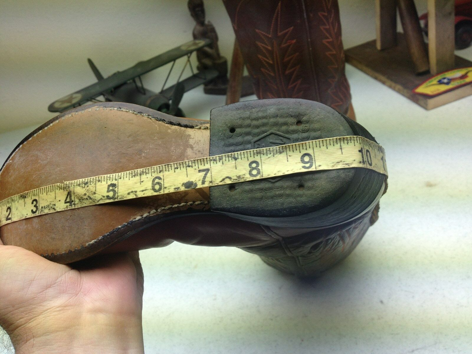 VINTAGE TONY LAMA EL PASO TEXAS DISTRESSED WESTERN COWBOY COWBOY COWBOY bottes Taille.5.5 M 4c902e