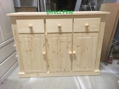 Pine Furniture Ayury 3 Drawer, Bare Pine Furniture
