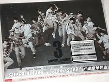 Korean BOY BAND Super Junior SORRY SORRY Taiwan Limited Edition Digipak #T30
