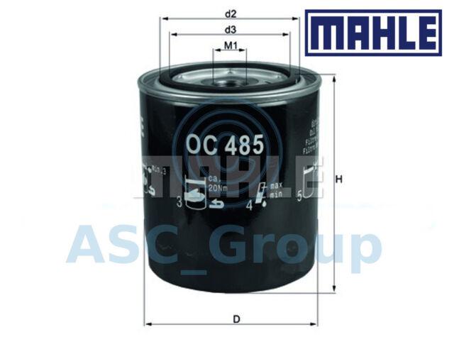 Original Mahle Ersatz Anschraubbar Motorölfilter Oc 485 Oc485