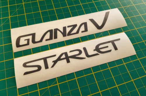 Toyota Starlet Glanza V EP91 Replacement Vinyl Stickers Decals Original sizing