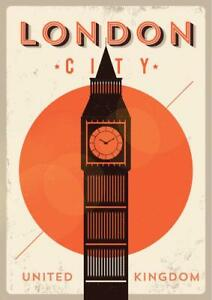 London-City-Big-Ben-Retro-Travel-Art-Poster-24x36-inch