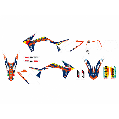 KTM EXC200 2012 2013 Trophy Sticker Kit Graphics /& Seat Cover