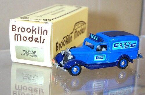 Brooklin Modèles Brk Brk Brk 16A 1935 Dodge Van City Glace Livraison Très Bon État en 9d7047