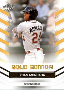 034-Rare-034-Yoan-Moncada-2015-Feuille-Draft-034-or-Edition-034-Carte-Rookie