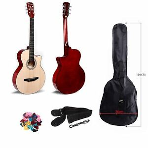 walnut 3 4 38 acoustic classic guitar for beginners student adults 6 string ebay. Black Bedroom Furniture Sets. Home Design Ideas