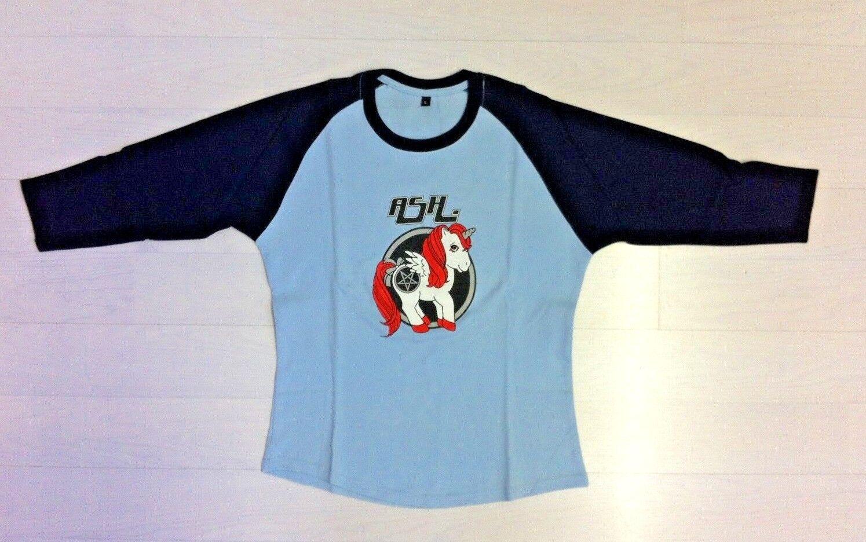 ASH - Very Rare  UNICORN T-Shirt -  Medium. Navy and Sky bluee. Vintage. Irish.