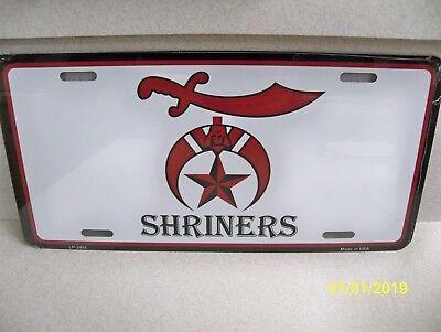 Shriner Masonic License Plate