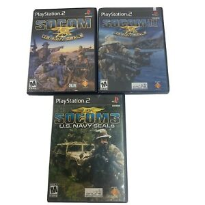 SOCOM-US-Navy-Seals-Trilogy-1-2-3-Trilogy-PS2-Playstation-2-Game-Lot-Free-Ship