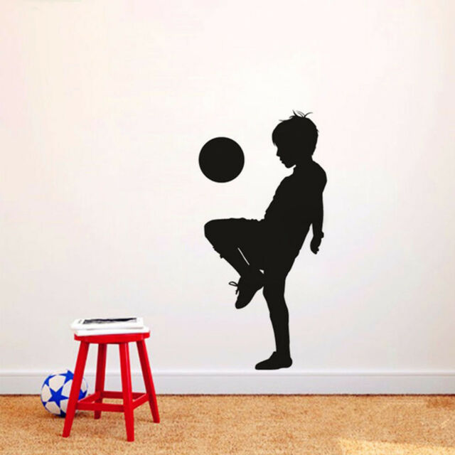 Sport Boy Playing Creative Room Soccer Kids Wall Art Wall Stickers Nursery Room