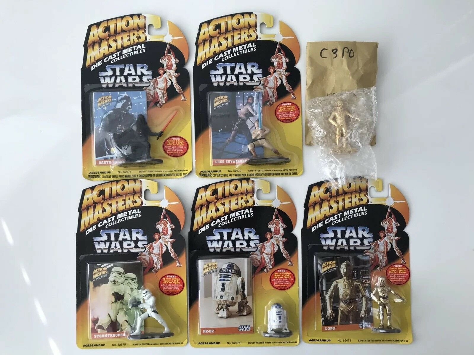 Kenner Action Masters Star Wars Die Cast (Lot of 6) Brand New RARE PROMO