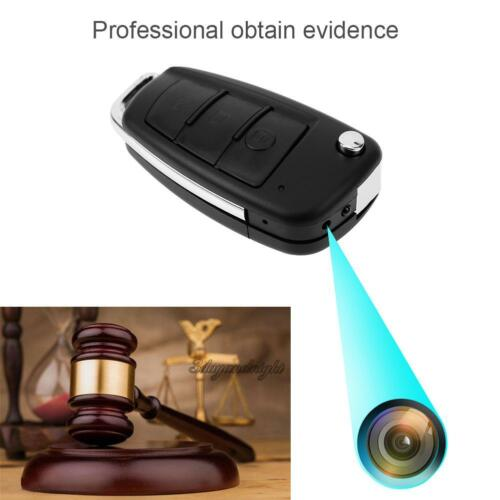 HD 1080P Spy Camera Car Key Chain Hidden DVR Audio Recording IR Night Vision NEW