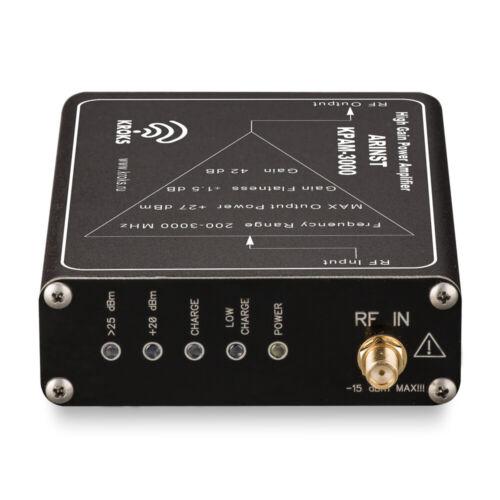 Arinst Amplificateur de puissance 200 MHz à 3 Ghz 42 dB Gain Avec Built-in Batterie Li-Ion