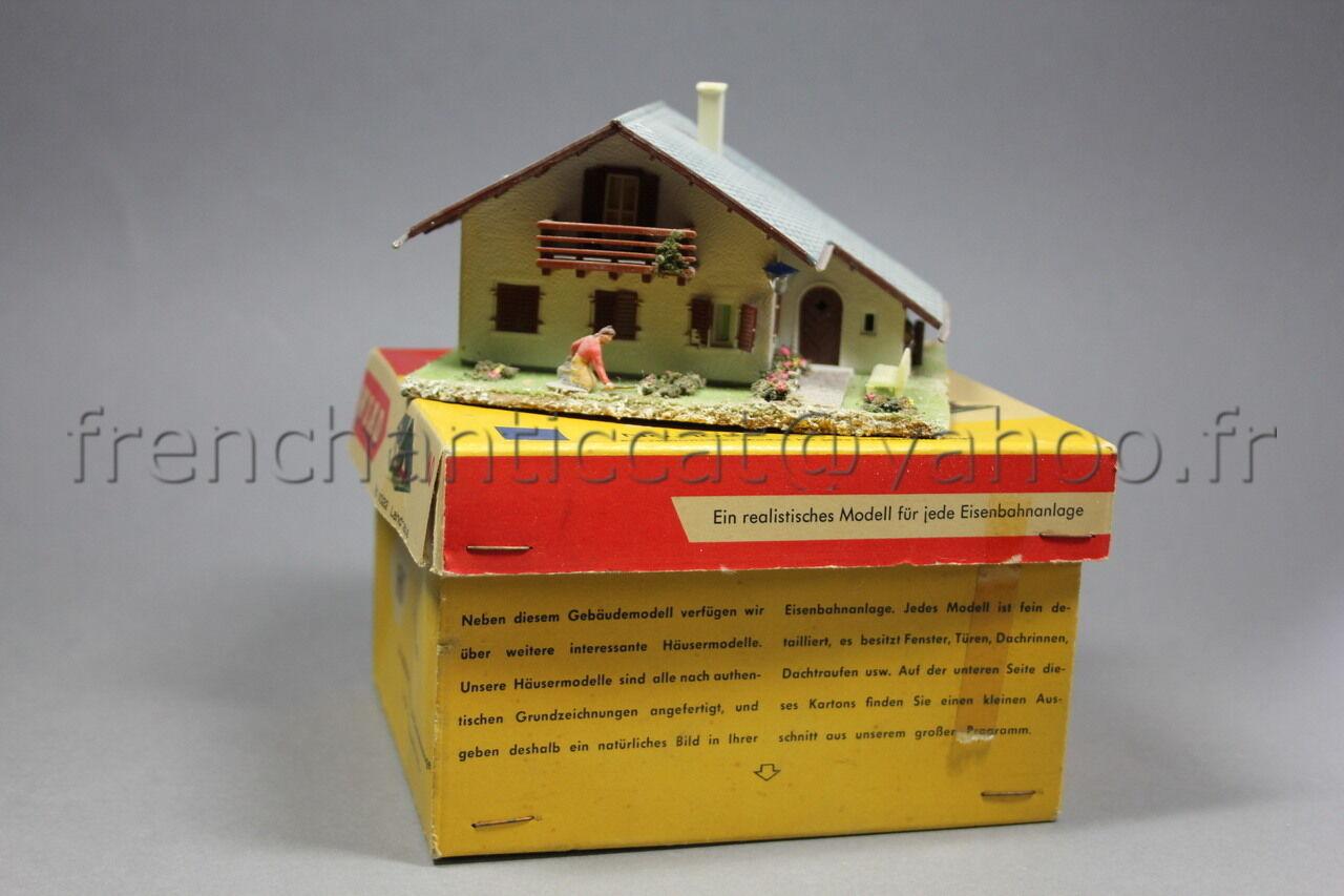 O759 Ancienne Maquette WIAD Ho années 50 boite 1022 Maison habitation Landhaus