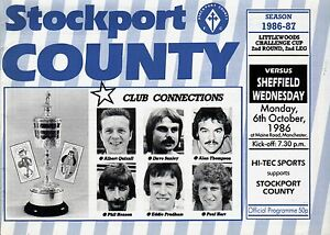 198687 Stockport County v Sheffield Wednesday League Cup PERFECT CONDITION - <span itemprop=availableAtOrFrom>Peterborough, Cambridgeshire, United Kingdom</span> - 198687 Stockport County v Sheffield Wednesday League Cup PERFECT CONDITION - Peterborough, Cambridgeshire, United Kingdom