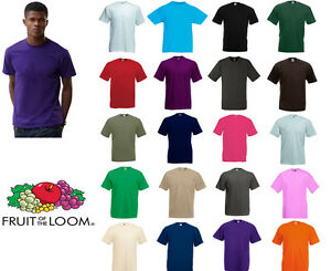 fruit of the loom valueweight tee all colours sizes ebay. Black Bedroom Furniture Sets. Home Design Ideas