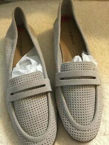 Lucky Brand Gray Pale Grey Suede Loafer