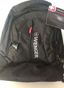 Wenger-Black-Five-Pocket-Backpack-NWT