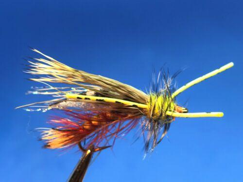 12 1 Dozen 183 Chew Chow Crystal Stimulator Yellow  Size 8  Stonefly