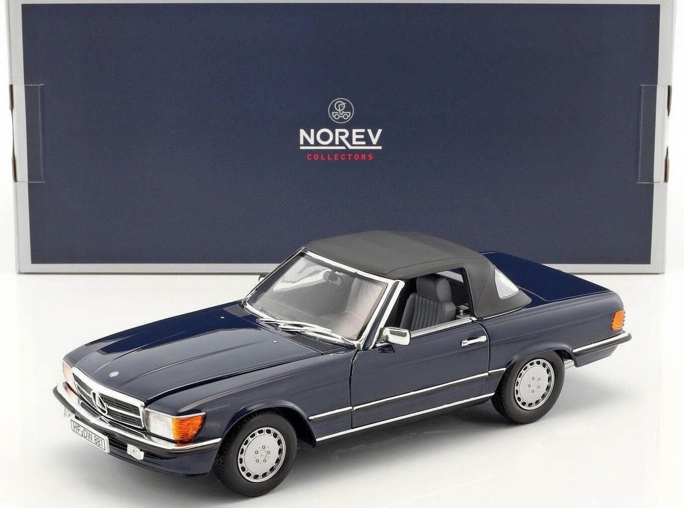 NOREV183466 - Voiture cabriolet MERCEDES 300 SL bleu de 1986 - 1 18