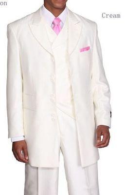 Men's 3 Piece Fashion Tone on Tone Stripe Suits with Cutaway Vest 29197V