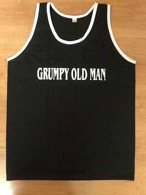 Funny Novelty Mens Vest Singlet Tank Top Caution Grumpy Old Man