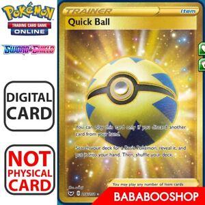 Quick Ball SR SECRET RARE SWSH Pokemon TCG Online PTCGO 216//202 DIGITAL