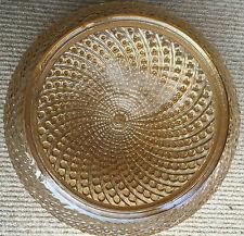 Vintage Textured Iridescent Glass Ceiling Light Shade Retro 60's 70's