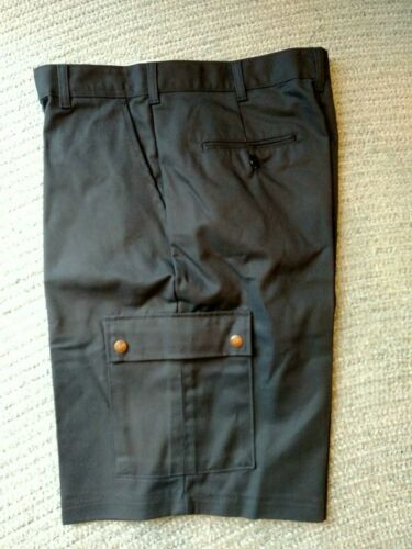 UNUSED Dark Navy Cargo Shorts SIZE 36 R NWT Pair Aramark Work Uniform Co