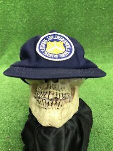 Vintage Federal Law Enforcement Training Center Snapback Blue Trucker Hat Cap