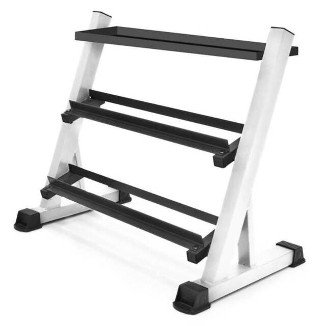RitFit A-Frame Steel Dumbbell Rack 5-Tier Hand Weights Storage Stand for Home Gym Organization 3-Tier