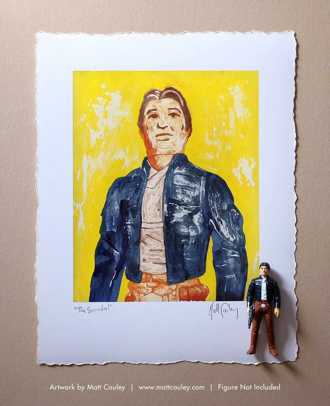 BESPIN HAN SOLO Vintage Kenner Star Wars Action Figure ORIGINAL ART PRINT 3.75
