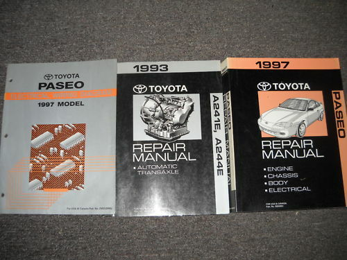 1997 Toyota Paseo Service Shop Repair Manual Set Oem 97 W