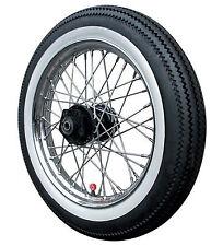 "Motorcycle White Wall Toppers Tyres Set 18"" Skinny Whitewalls Wheel Motor Bike"