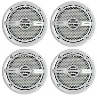 4) Sony Xs-mp1611 6.5 280 Watt Dual Cone Marine Speakers Stereo White Xsmp1611 on sale