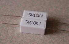 2pcs 5 watts 10k ohm Ceramic Cement Power Resistors +-5%