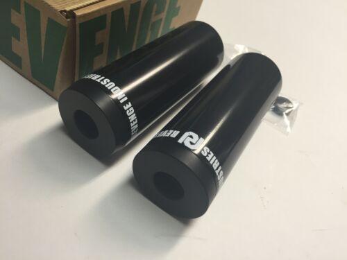 """REVENGE BMX BIKE FLOW PEGS BLACK 115 MM 4.5/"""" PAIR PEG PRIMO FRONT REAR 4.5"""