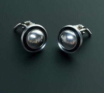 Vintage N.E.From Denmark Sterling Silver Earrings