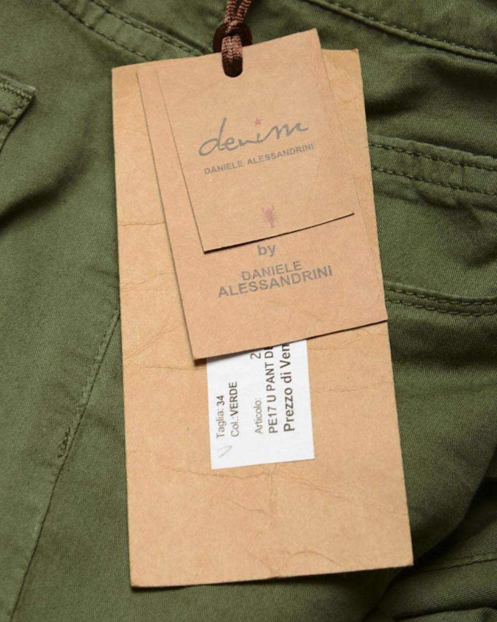 Pantaloni Daniele Alessandrini Jeans Trouser Uomo verde PJ4610TGL1003731 33 33 33 0374dd
