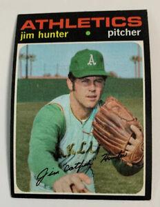 1971 Jim Catfish Hunter # 45 Oakland Athletics A's Topps Baseball Card HOF