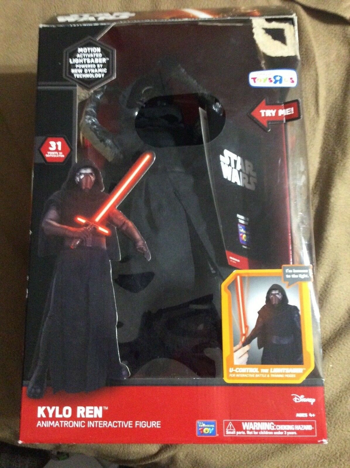 Star Wars Kylo REN Animatronic interactive figure over 14 inches tall